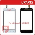 """Original 4.3 """"para lg series iii l65 d285 dual sim card tela de toque digitador sensor de vidro exterior branco preto + código de rastreamento"""