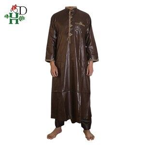 Image 5 - H & D الملابس الأفريقية الرجال 2020 رجل dashiki قميص أفريقيا بازان الثراء الزي الملابس القمم بانت الدعاوى vetement الأفريقية صب أوم