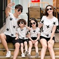 3XL Star Casual Family Clothing T-shirt Clothes Mom and Daughter Kids Clothes Father Son Matching Clothing Family Style Set QQ01