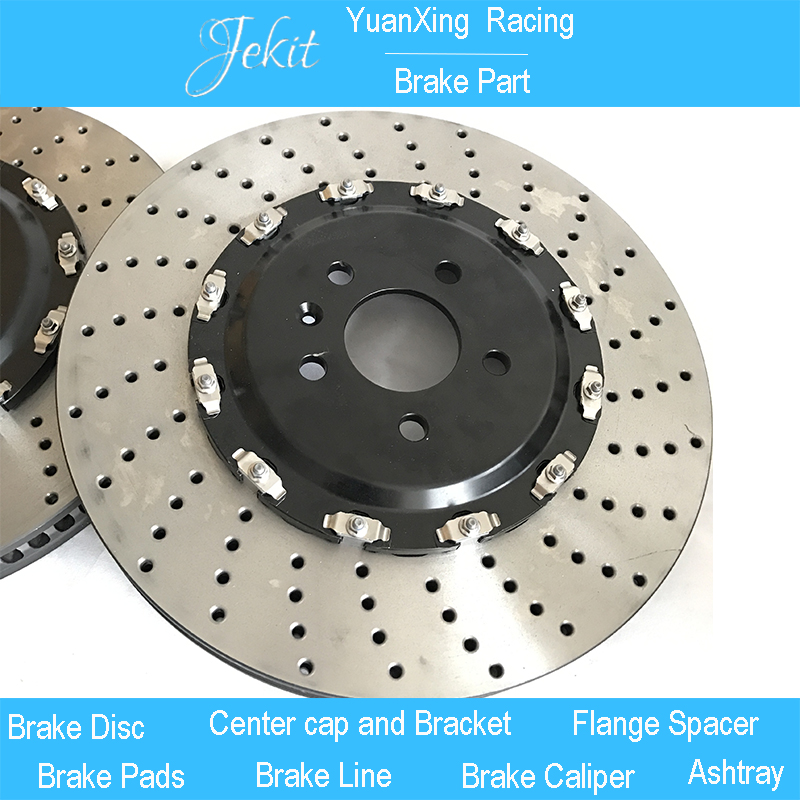 Jekit High performance Auto Brake rotors discs with bell 390*36mm drilled pattern for Audi A3 8V car brake kit