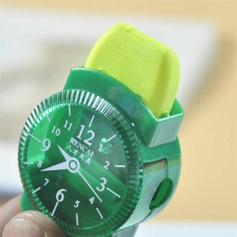 1PCS חידוש מיני צבעוני עיפרון מחדד עם מחקי מברשת למשרד בית ספר תלמיד אספקת מכונה עיפרון מחדד