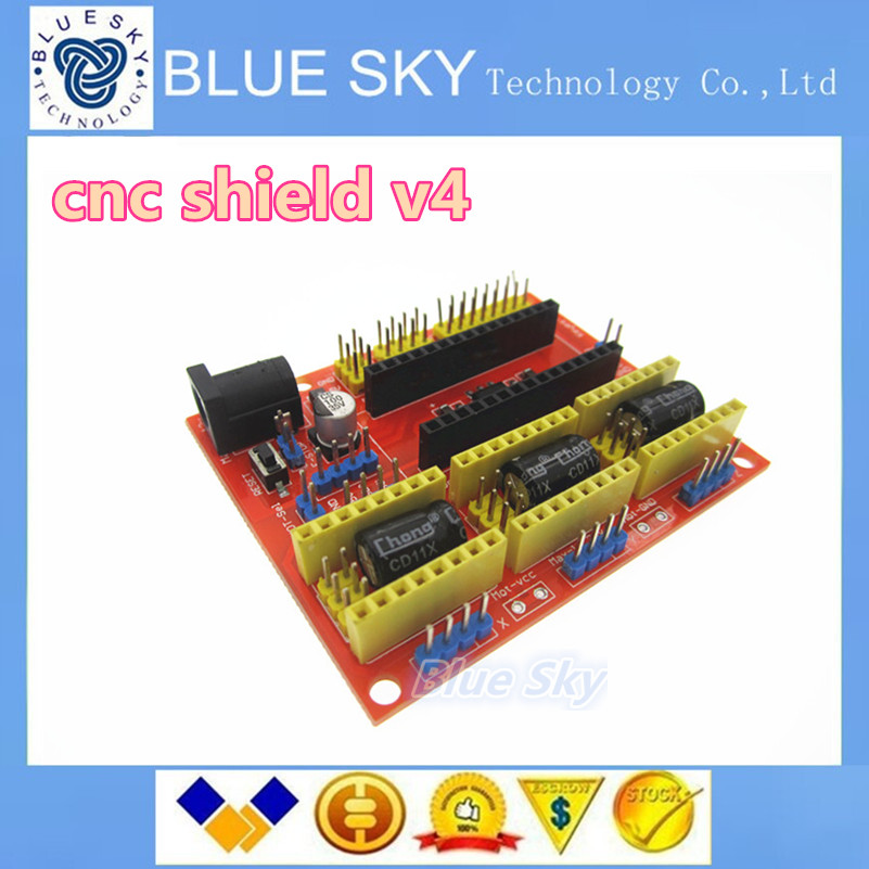 5pcs New cnc shield v4 engraving machine / 3D Printer / A4988 driver expansion board for Arduino Free shipping