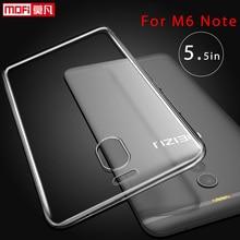Meizu M6 Note Case Meizu M6 Note Case Cover Silicone Ultra Thin Clear Soft Mofi Back Transparent Slim Coque Meizu M6 Note Case сотовый телефон meizu m6 note 16gb blue
