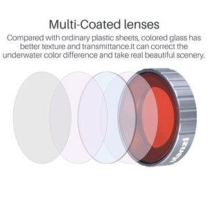 Image 3 - Ulanzi Duiken Filter Kit Voor Dji Osmo Action Optische Glas Rood Paars Dive Swim Osmo Actie Camera Lens Filter Accessoires