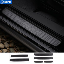 MOPAI ABS Car Interior Door Sill Guards Plate Guards Protector Pedal Cover Stickers For Jeep Wrangler JL 2018+ Car Styling(China)