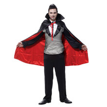 Adult Men Count Vampire Costumes Cosplay Halloween Purim Party Carnival Masquerade Mardi Gras Outfit M-0065