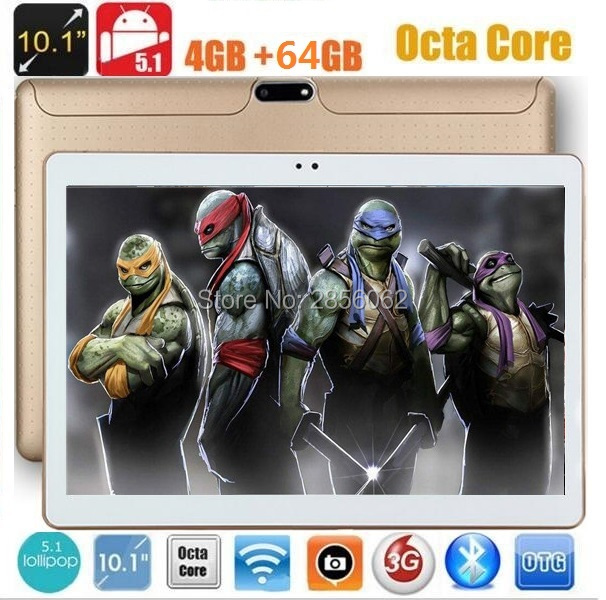 10 inch Tablet Android 5.1 Octa Core MTK8752 4GB RAM 64GB ROM 8 Cores 1280*800 IPS Kids Gift MID GPS tablet Free Shipping