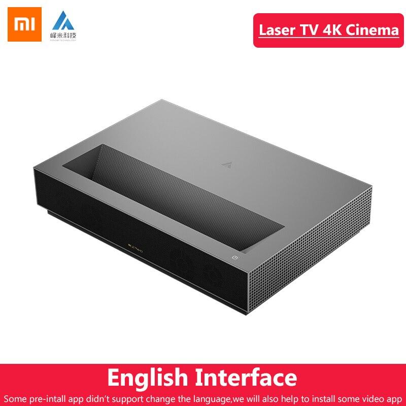 Original Xiaomi Fengmi Laser Projetor TV Cinema 150 Polegada 4 K 2.4G/G Wi-fi Home Theater 2 5 GB GB MIUI TV Suporte DTS Dobby HDR10 64