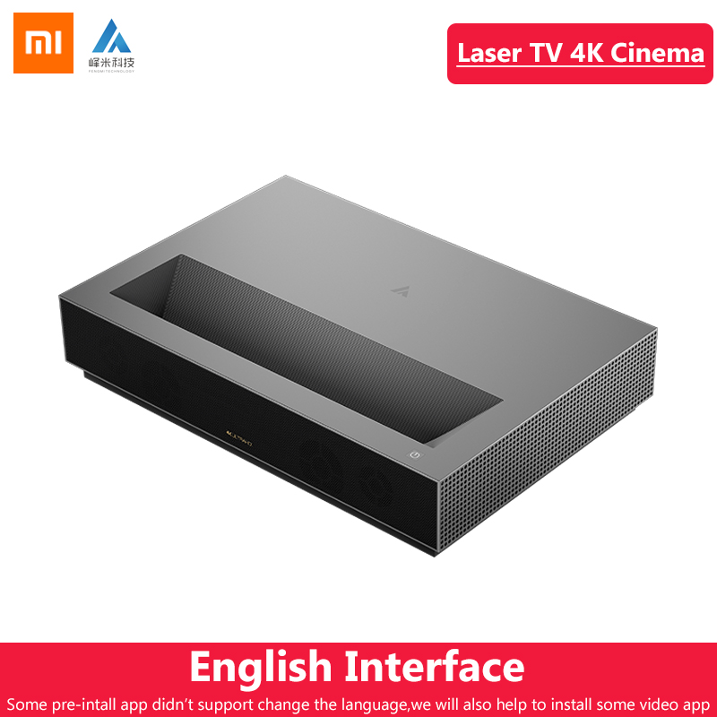 Original Xiaomi Fengmi láser proyector TV 4K cine 150 pulgadas 2,4G/5G Wifi teatro en casa 2GB 64GB MIUI TV HDR10 Dobby DTS