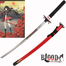 Free Shipping For Blood-C The Last Dark Theme Anime Sword Katana Real Steel with Red Scabbard Cosplay Decorative Supply No Sharp free shipping techone katana epo red pnp version include electronic parts