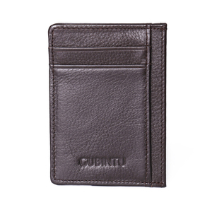 Мужской кошелек GUBINTU, мягкий кошелек из натуральной коровьей кожи с отделением для монет и карт