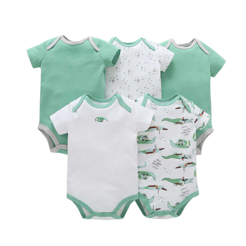 36b3100828ac 5Pcs Top Quality Baby Rompers Boy Clothing Set for Summer Short Sleeve  O-Neck Cotton