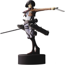 Free Ship 14cm Attack on Titan Cute Mikasa Ackerma Action Figure Toys PVC Model Collectible Doll for Boy Brithday Christmas Gift