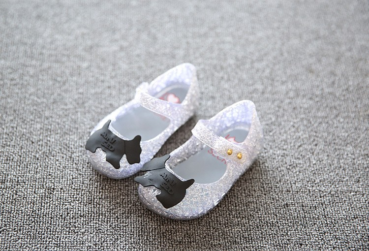 17 new fashion girls shoes Bow jelly sandals female child soft outsole princess shoes open toe shoes kids sandals baby shoes 9