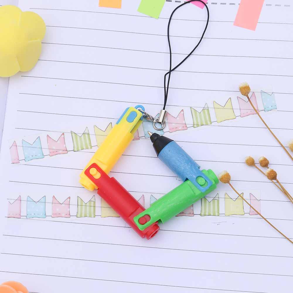 TOMTOSH Foldable Ballpoint Pen Stitch Pen Wholesale Bend Pen Creative Student Prize Item Pen 7