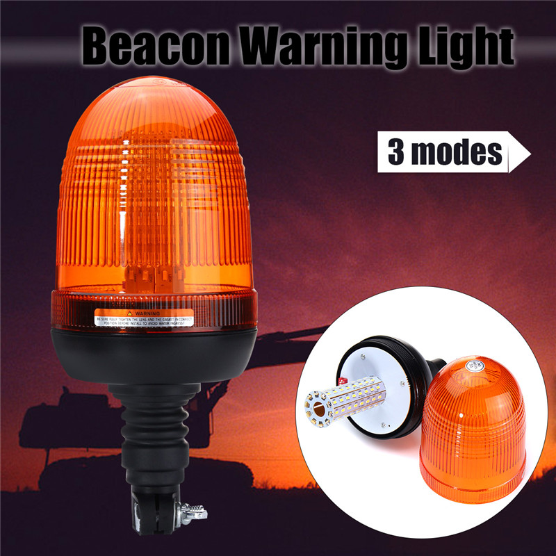 LED Car Signal Lamp Flashing Strobe Beacon Emergency Warning Light Car Auto Amber Lamp Yellow Lighting 12-24V 80 LED