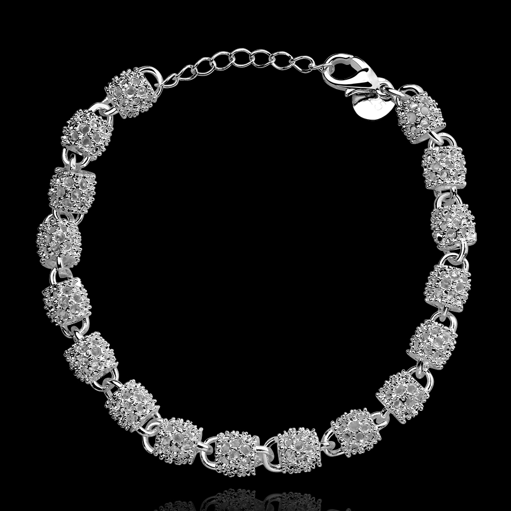 925 Silver Silver Chain Chain Bracelet H354 Wholesale Bracelet Fashion Bracelet Silver Jewelry Silver - Click Image to Close