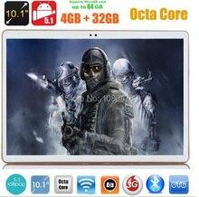 Envío libre 10 pulgadas tablet pc 4g LTE octa core GPS Android 5.1 4 GB/32 gb 1280*800 IPS Pantalla de Doble Cámara de 5.0MP MEDIADOS Phablet