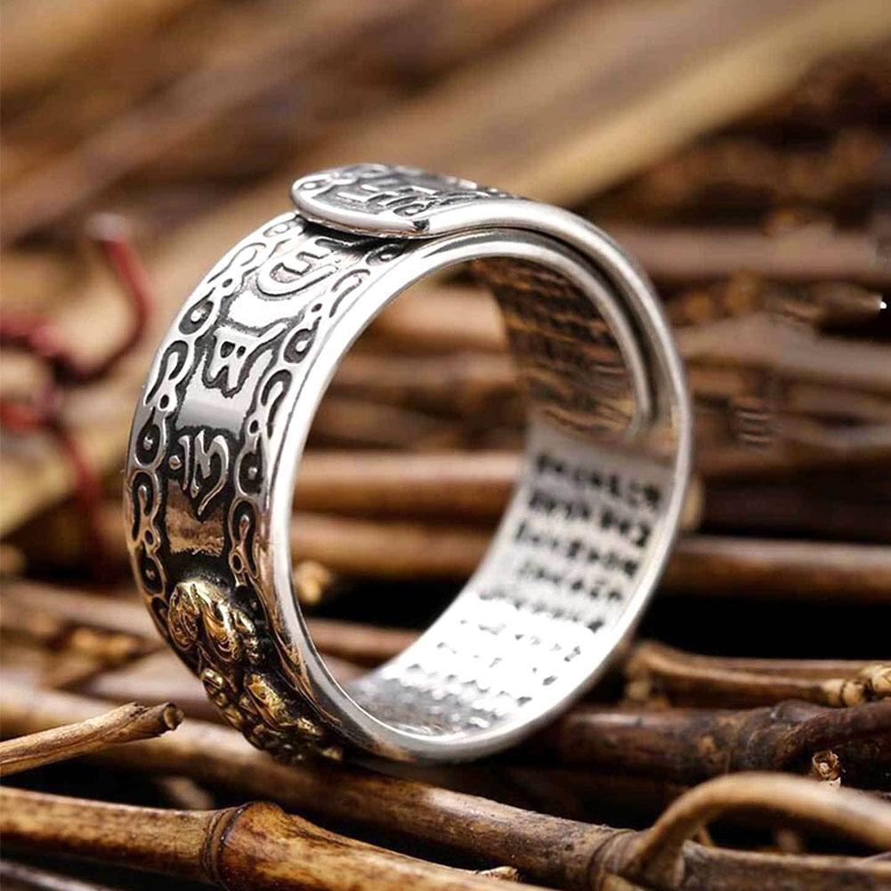 Женское кольцо с подвеской Feng Shui Pixiu, регулируемое кольцо, буддийские ювелирные изделия, унисекс