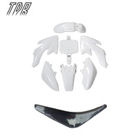 TDR Motorcycle Accessories Pit Bike Plastic White Seat Set CRF50 50cc 110cc 125cc 140cc Dirt Bike