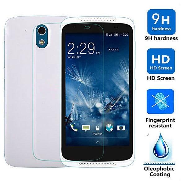 0.3 мм тонкий 2.5D 9 H Slim закаленное Стекло Экран протектор Плёнки для HTC Desire 526 526g 526 г + гвардии pelicula де vidro Coque защиты