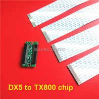 中国プリンタスペアパーツアダプタボード DX5 に TX800 プリントヘッド変更チップ変換ボードとケーブル 1 セット