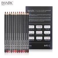 IMAGIC Lipliner Pen Fashion Lasting Moisture Lipliner Waterproof Lip Liner Stick Waterproof Pencil 12 Color With
