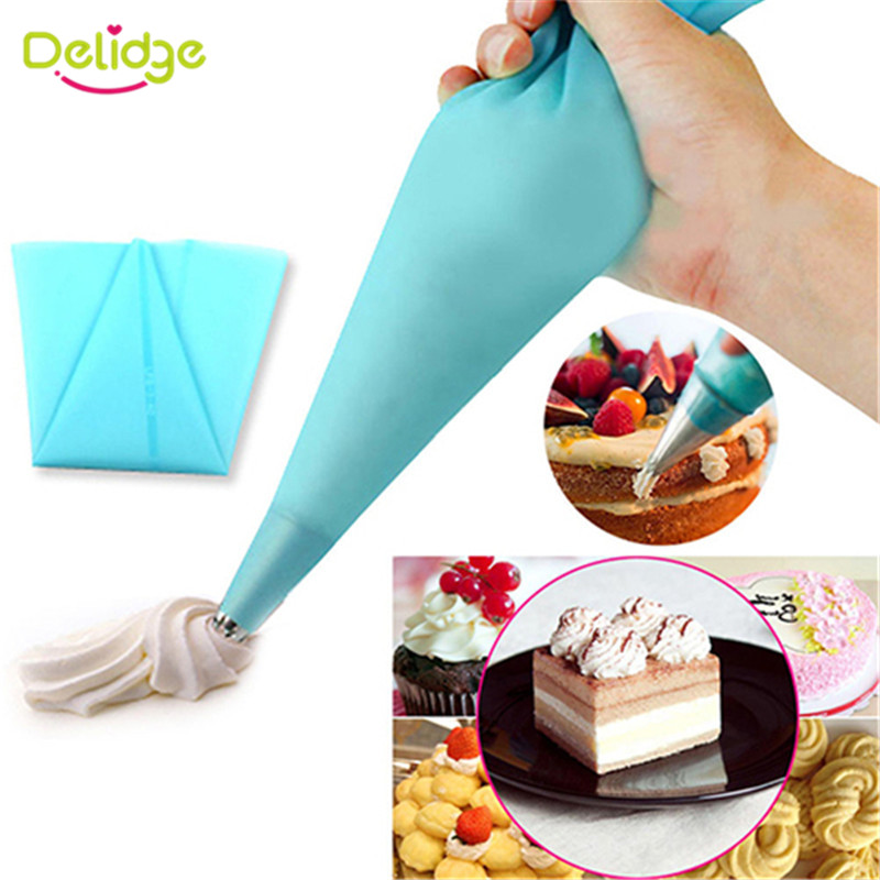 Cake Decorating Bag Tips : Delidge 1pc Piping Bags Icing Bag Nozzles Tool Dessert ...