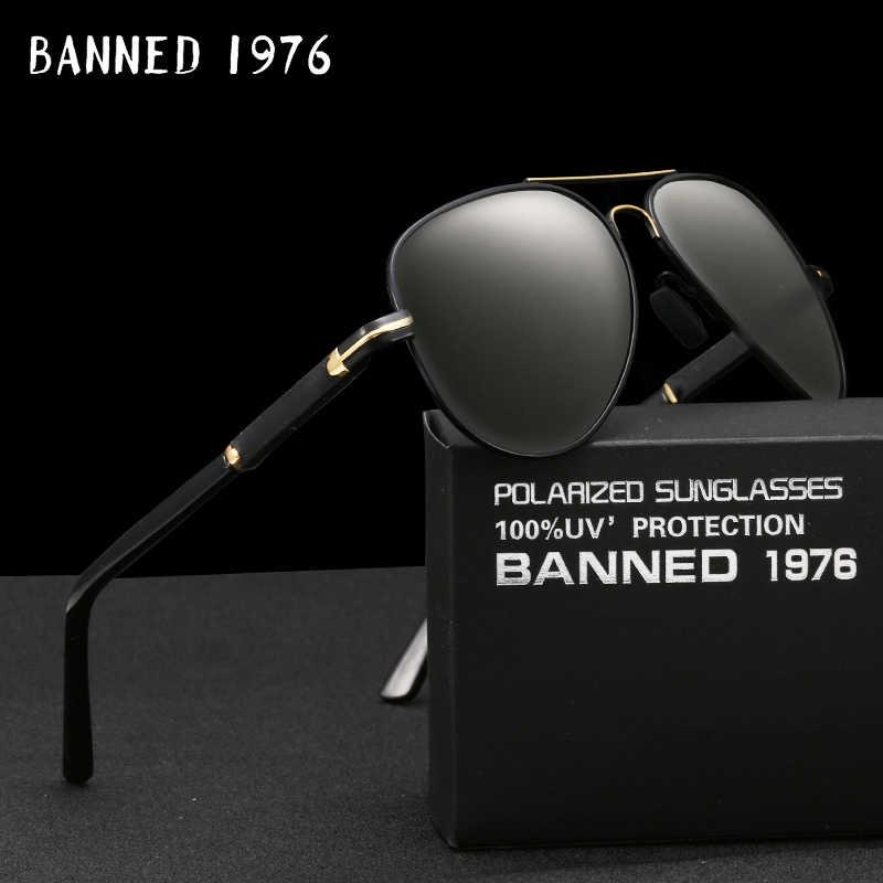 d69a6bcd724 HD Polarized Pilot Sunglasses Fashion Men Sunglasses Outdoor anti UV 400  Luxury Man sun glasses Eyewear
