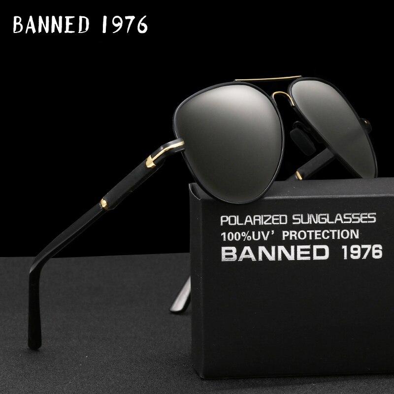 3b4d111a2 HD Polarizada Piloto Óculos de Sol Da Moda Homens Óculos de Sol Ao Ar Livre  anti UV 400 óculos de sol Homem de Luxo Óculos Masculinos Óculos legais