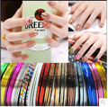 10PC  Mixed Colorful Beauty Rolls Striping Decals Foil Tips Tape Line DIY Design Nail Art Stickers for nail Tools Decorations