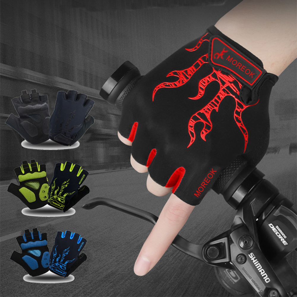 MOREOK Cycling Gloves Half Finger Mens Women s Summer Bike Bicycle Gloves Breathable Lycra Sport Mountain