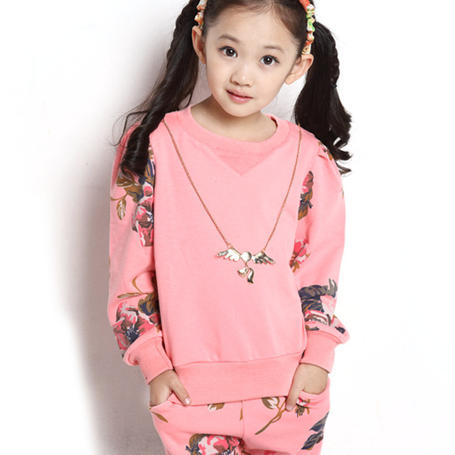 49fbc5d669486 2015 new Korean girls sport clothes big kid summer clothes baby girl sport  set children clothes for girls free shipping6-16year