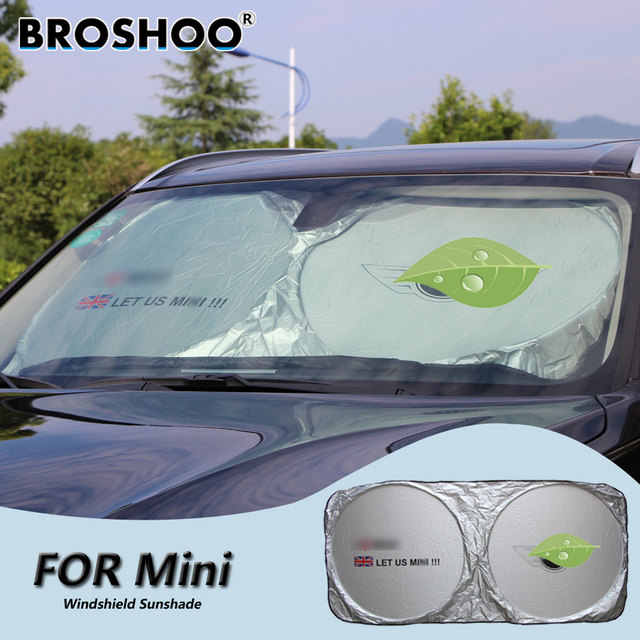 BROSHOO Car Windscreen Sunshade Front Window Sun Shade Windshield Visor  Cover For BMW for Mini Cooper 9d7e126d2b5