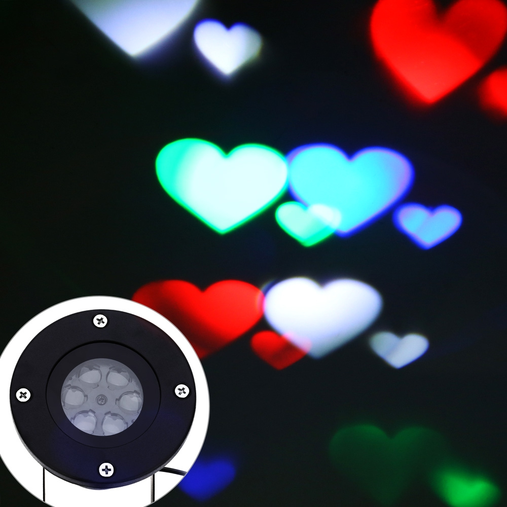 Projector Lamp LED Stage Light Heart Light Holiday Party ...