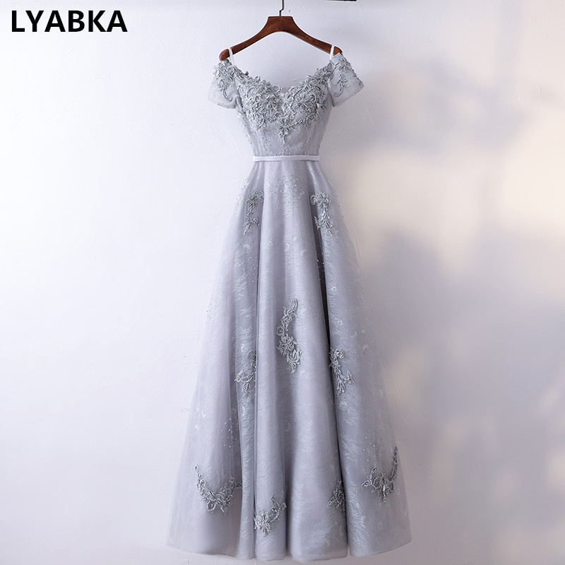 Sexy Sweetheart Evening Dress Robe De Soiree 2019 High Quality Appliques Beads Evening Dresses Long A