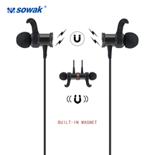 IPX4 sweatproof earphones Sowak S12+ bluetooth 4.1 wireless sports APTX stereo headset with MIC for Oneplus 5 Smartphone