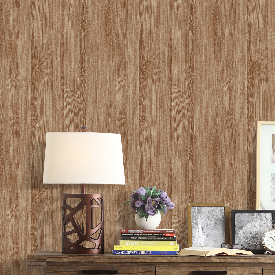 4 color Chinese classical 3D wood wallpaper Living room bedroom background wallpaper 3D embossed waterproof wallpaper roll