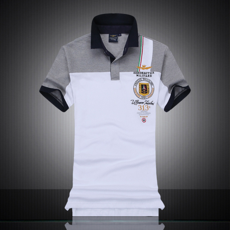 2018 New Fashion Casual Brand Mens Summer 100% Cotton Short Sleeve Army Air Force One   Polo   Shirt Men High-quality Men Clothing
