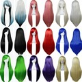 Hot Sale Women 80cm Long Straight hair white/pink/red ladies cosplay wig heat resistant kanekalon fibre anime cosplay wig peruca