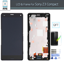 4.6 Inch LCD for Sony Xperia Z3 Compact Z3 Mini D5803 D5833 LCD display touch screen digitizer+frame assembly In AAA+++ Quality