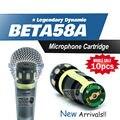 Бесплатная доставка! 10 шт. капсула картридж для BETA58A BETA57A проводной микрофон капсула суперкардиоида динамический прямой замены