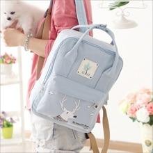 Leinwand Druck Rucksack Frauen Schultaschen für Mädchen Im Teenageralter Niedlich Bookbags Laptop Rucksäcke Weibliche Bagpack