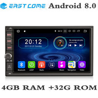 4GB RAM 32GB ROM Octa Core Android 8.0 Universal Central Multimidia Double 2din 2 din Car Radio DVD Player GPS Navigation