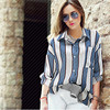 Jingjinie Women S Casual Loose Shirt With Poket Vintage Long Sleeve Striped Blouse Free Shipping And