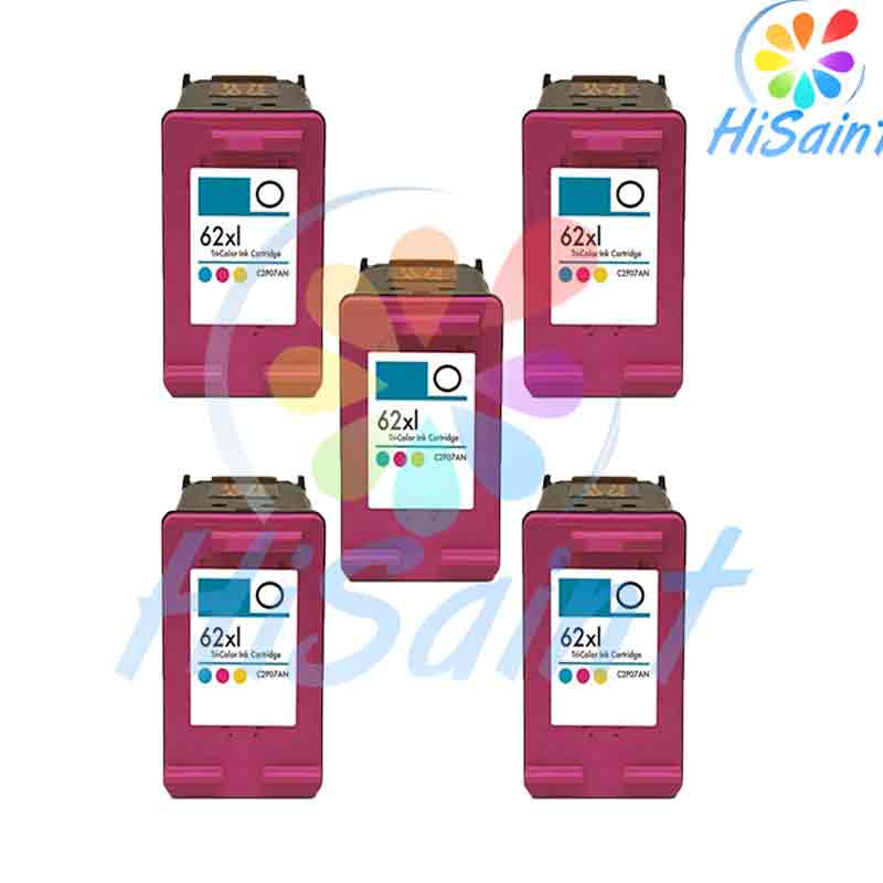HOT Sale 5C high quality Spread Remanufactured Ink Cartridge for HP 62XL C2P05AN For HP ENVY5640 And For HP 5740 Free Shipping