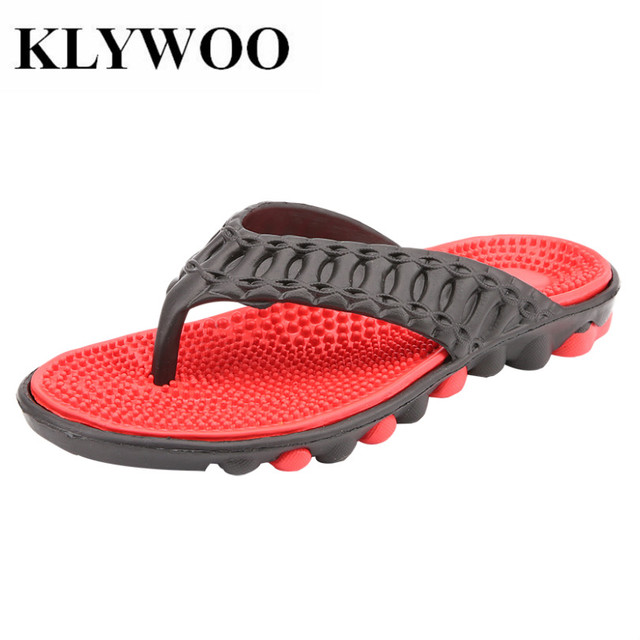 5299c738d KLYWOO Men Slippers Summer Men Sandals Fashion Breathable Beach Slippers  Flip Flops Beach Water Shoes Men Casual Shoes Slides