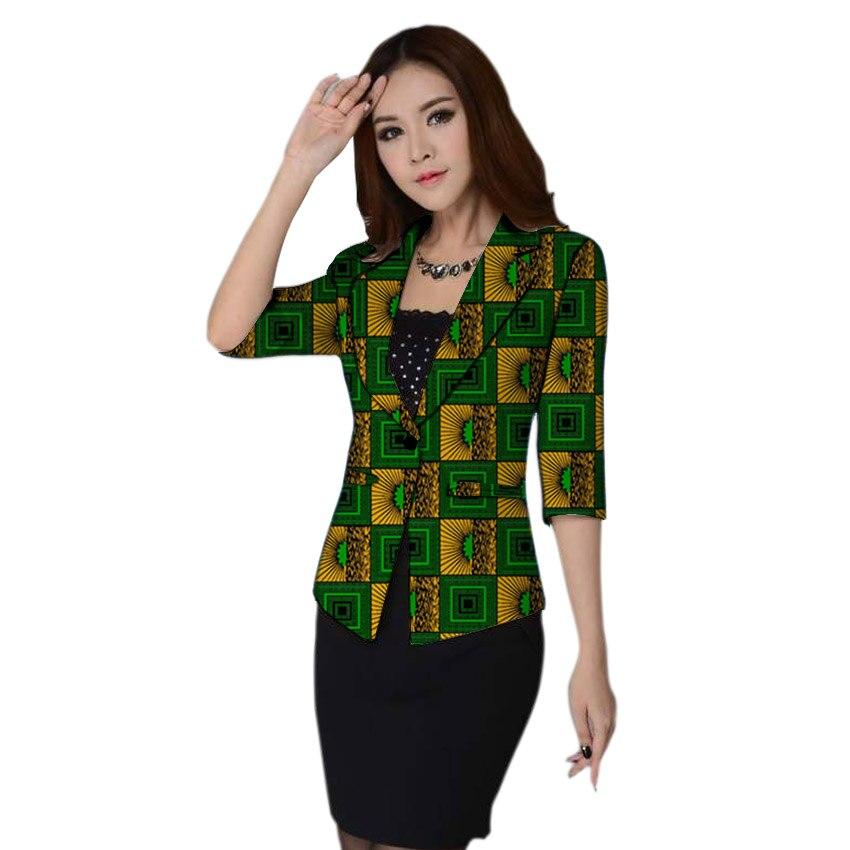 African fashion women blazers slim fit dashiki clothes for ladies blazer coat elegant half sleeve suit jacket Africa clothing