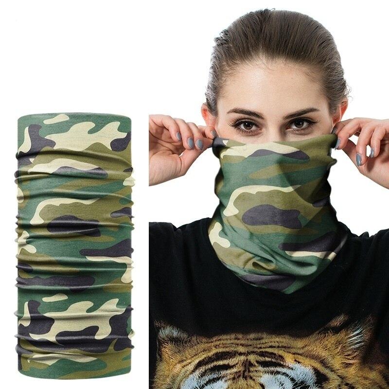 JAMONT Ring Scarf Bandana Neck-Gaiter Magic-Tube Seamless Warm Tubular Camouflage-Leaves