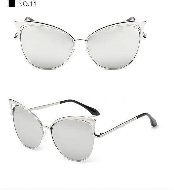 Luxury Cat Eye Sunglasses Women Brand Designer Retro Vintage Sun Glasses For Women Female Ladies Sunglass Mirror Lunettes Oculos (22)